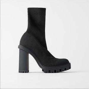 Zara Sock boots with lug soles